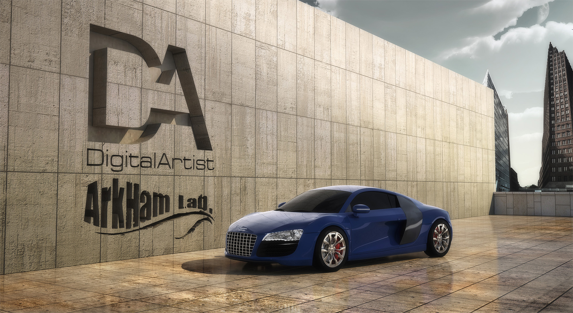 Audi R8 3D Graphic CG Still